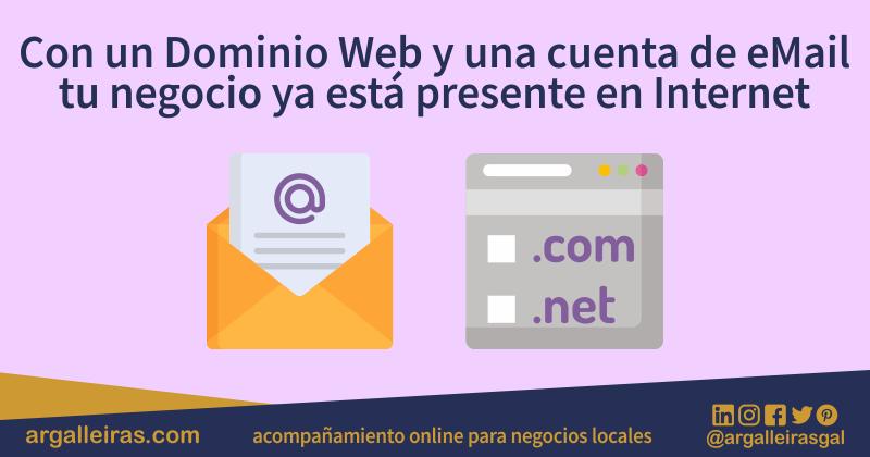 Nombre de dominio web y correo electrónico para tu negocio local