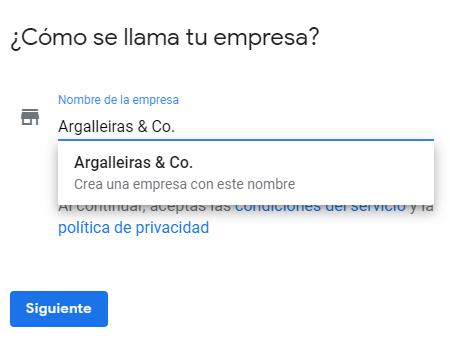 Crear perfil de empresa en Google My Business